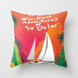 Advertures of SV Delos Throw Pillow