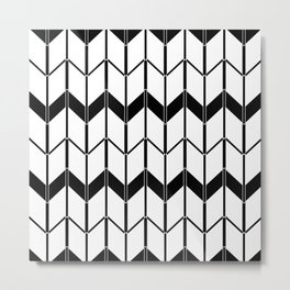 The Scandinavian pattern , black and white Metal Print