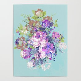 Deconstructed Floral Poster