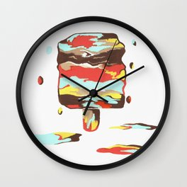 Abstract Frozen Treat Wall Clock