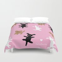 poodle Duvet Covers featuring POODLE PARTY by BARCELONETTE