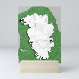 Samoyed Illustration - Breezer in a Dream Mini Art Print