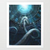 underwater Art Prints featuring Underwater by Julie Dillon