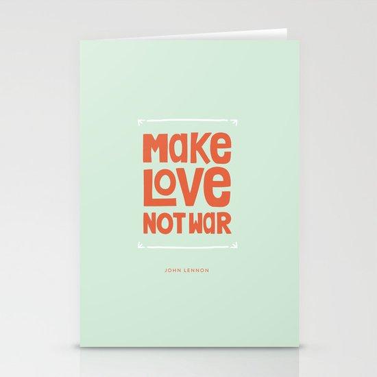 Make Love, Not War Stationery Cards