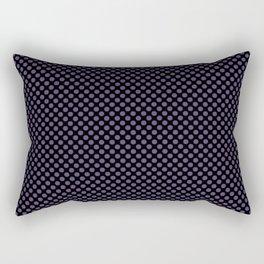 Black and Gentian Violet Polka Dots Rectangular Pillow