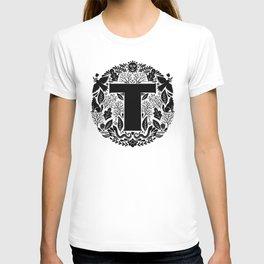 Letter T monogram wildwood T-shirt