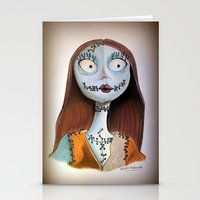 nightmare before christmas Stationery Cards featuring Sally from nightmare before Christmas by Melissa Rodriguez