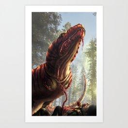 Tyrannosaurus Meal Art Print