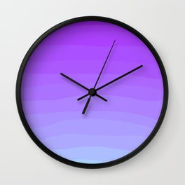 Pastel Lavender Ombre Sky Wall Clock