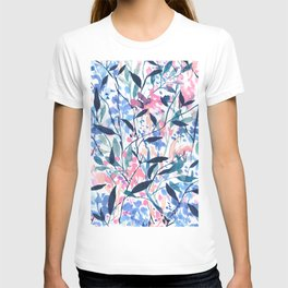Wandering Wildflowers Blue T-shirt