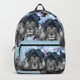 Lion with flowers Backpack