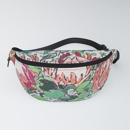 Bouquet of Proteas with Matisse Cutout Wallpaper Fanny Pack