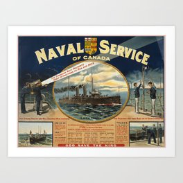 Vintage poster - Naval Service of Canada Art Print