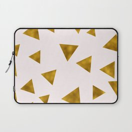 Soft Pink And Rustic Gold Triangles Laptop Sleeve