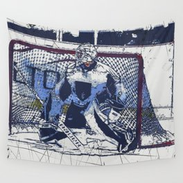The Goal Keeper - Ice Hockey Wall Tapestry