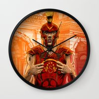 gladiator Wall Clocks featuring German Gladiator Podolski by Akyanyme