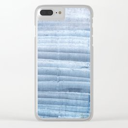 Blue waves abstract painting Clear iPhone Case