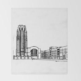 The Buffalo Central Terminal Throw Blanket