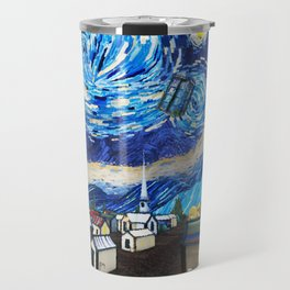 Tardis Art Starry City Night Travel Mug