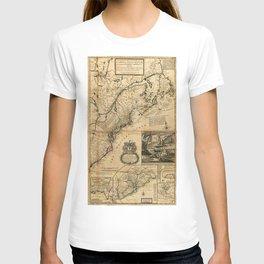 Map of North America (British Colonies) 1731 T-shirt