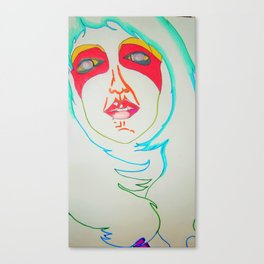 Selfie of a ghost girl Canvas Print