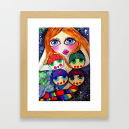 Miss Love Framed Art Print