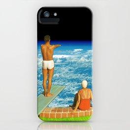 Jump in clouds iPhone Case