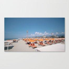 ITALIAN BEACH  - Via Reggio. Canvas Print