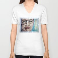stephen king V-neck T-shirts featuring Stephen Hawking by Michael Cu Fua