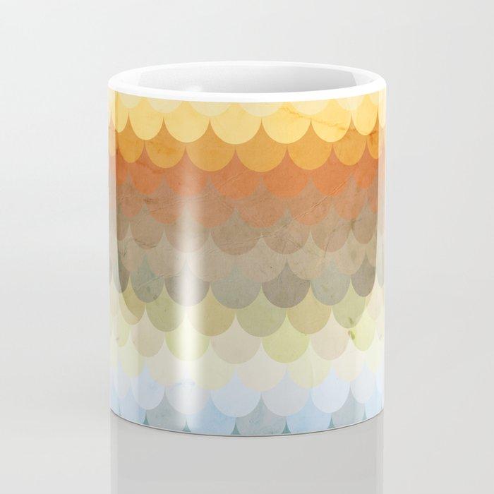 Half Circles Waves Color Coffee Mug