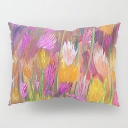 Field of Flowers in Yellow and Pink Pillow Sham
