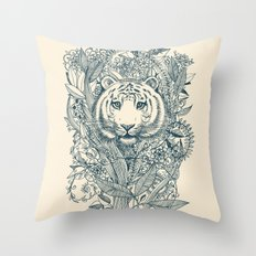 Tiger Tangle Throw Pillow