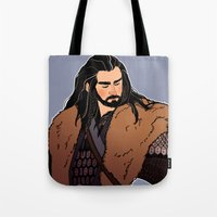 thorin Tote Bags featuring Thorin by rdjpwns
