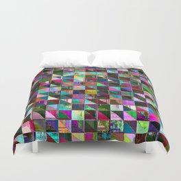 glitch color pattern Duvet Cover