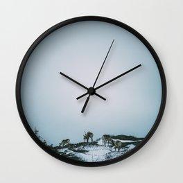 Caribou on Fogo Island Wall Clock