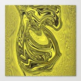 Flowing Liquid Gold Canvas Print