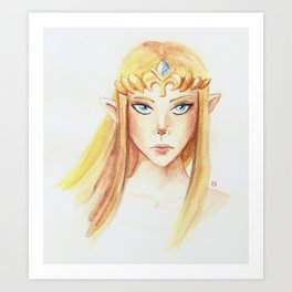 Zelda (Watercolor Version) Art Print