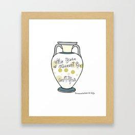 Fermentation Is Life Framed Art Print