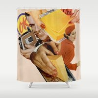 cheese Shower Curtains featuring Say Cheese! by Lerson
