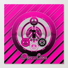 One Love (Pink) Canvas Print