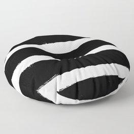 Black & White Paint Stripes by Friztin Floor Pillow