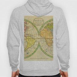 Vintage World Map 1798 Hoody