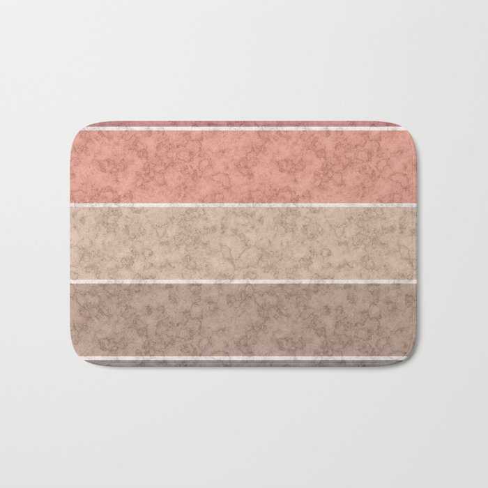 Pink and gray marble striped pattern . Bath Mat