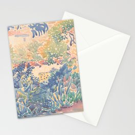 The Artist's Garden at Saint-Clair by Henri-Edmond Cross 1904-5, French Stationery Cards