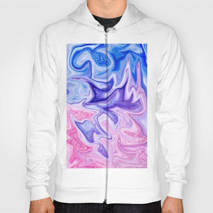 3ff5f5b7 Pink & Blue Violet Marble Art Hoody by newburydesigns | Society6