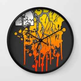 Liquid Autumn Leaves (Dark) Wall Clock