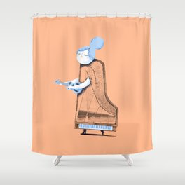 Lady in G Major Shower Curtain