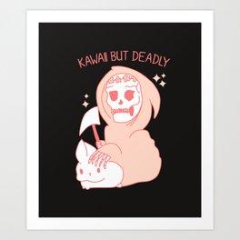 Kawaii but Deadly Art Print