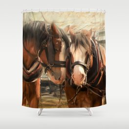 Six On The Hitch Shower Curtain