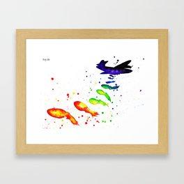 squid attack Framed Art Print
